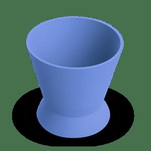 Pote Dappen Silicone Pequeno Azul - Indusbello