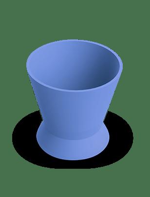 Pote Dappen Silicone Azul- Indusbello