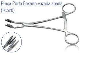 Pinça Porta Enxerto Vazada Aberta (Jacaré) -Harte
