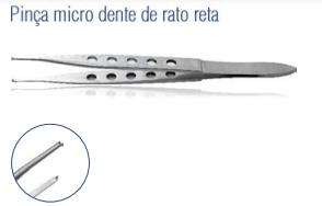 Pinça Micro Dente de Rato Reta -Harte
