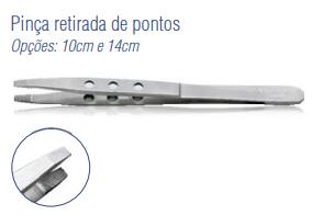 Pinça Retirada de Pontos 10cm -Harte