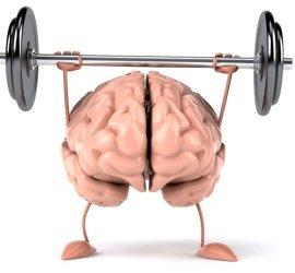 brain lifting a barbelll