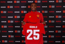 Ighalo Welcomes DJ Cuppy To Club With Autographed Man U Jersey
