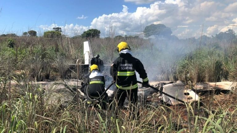 Tragic! Four Footballers, Club President, Pilot Die In Plane Crash