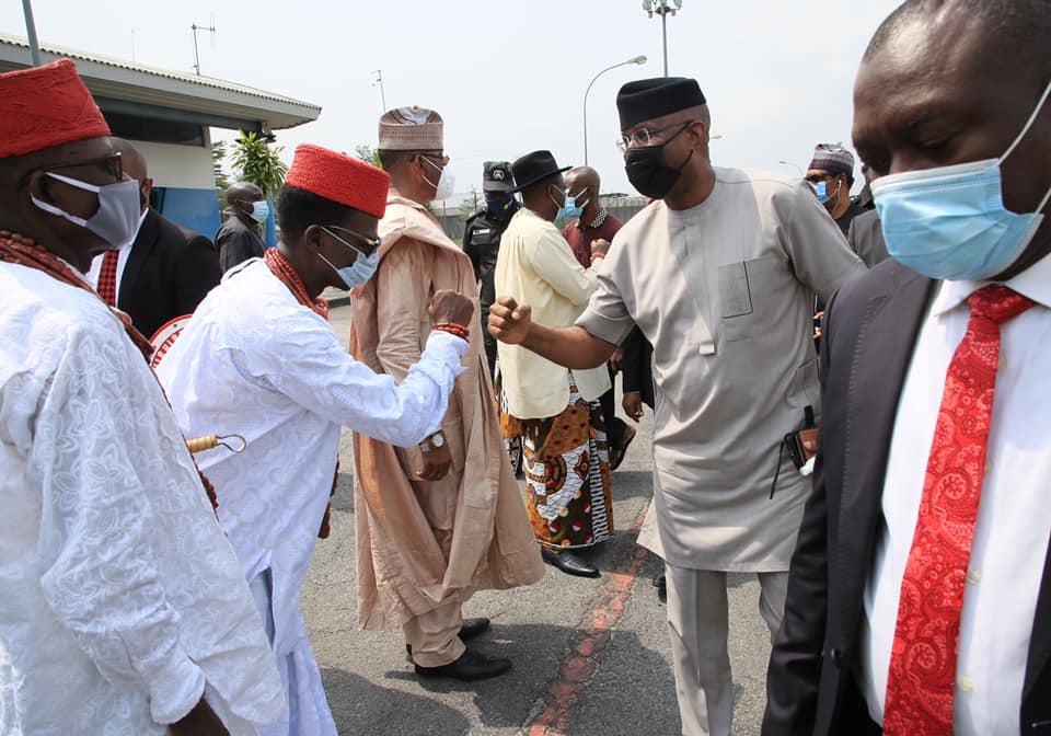 Photos: Omo-Agege Arrives Delta State For APC Revalidation