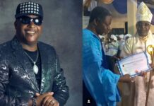 Legendary Singer, Sir Shina Peters Becomes Bishop (IMAGES)
