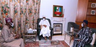 Buhari Meets Tinubu, Akande, Zulum Behind Closed Door