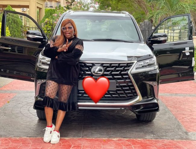 Funke Akindele Buys Brand New Lexus Worth N135M (Video)