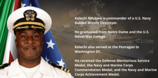Historic! Kelechi Ndukwe Named First Nigerian To Captain U.S. Navy Ship