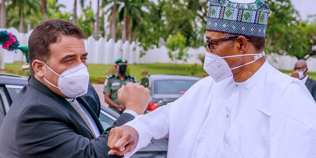 Buhari Meets Libyan PM In Aso Villa