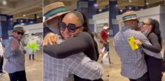 Tonto Dikeh's Ex-Husband, Churchill, Welcomes Wife, Son (Video)