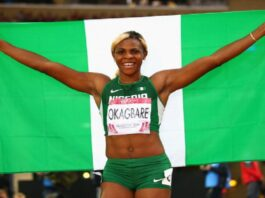Nigeria's Blessing Okagbare Emerges 2nd Fastest Woman On Planet