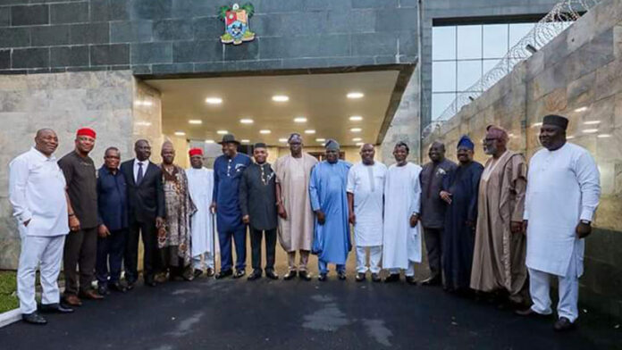 Southern Governors' Meeting Gets Underway In Lagos House (Photos)