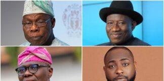 OBJ, Jonathan, Sanwo-Olu, Davido, Others Nominated For Int'l Award