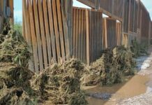 Trump Border Wall Damaged By Heavy Flooding
