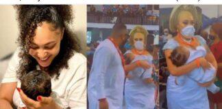 Tonto Dikeh's ex-Husband, Churchill, Wife Dedicate First Child