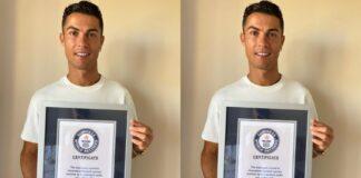 C.Ronaldo Reacts After Bagging Guinness World Certificate Award