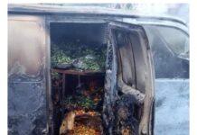 Suspected IPOB Members Set Ablaze Bus Carrying Foodstuffs In Enugu