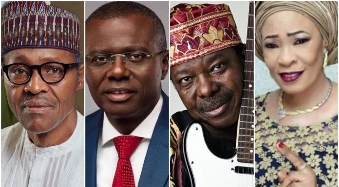Buhari, Sanwo-Olu Condoles With Sunny Ade Over Wife's Demise Hours To 75th Birthday