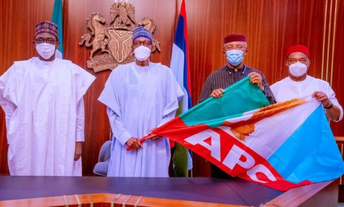 Anambra Deputy Gov, Okeke Dumps APGA For APC, Meets Buhari