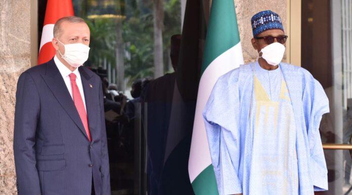 Buhari, Turkish President In Bilateral Talks In Aso Villa
