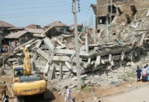 Three Workers Trapped As Building Collapses In Lagos