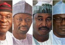 PDP's Four Horse Race: Mark, Dankwambo, Shema, Makarfi In Epic Battle For Chairmanship