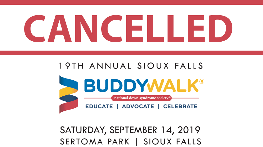 Buddy Walk Cancelled