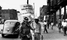 Protests in Chicago, Circa 1940s. Photographer Unknown.