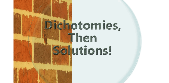 The Dichotomies, Then Solutions! Podcast