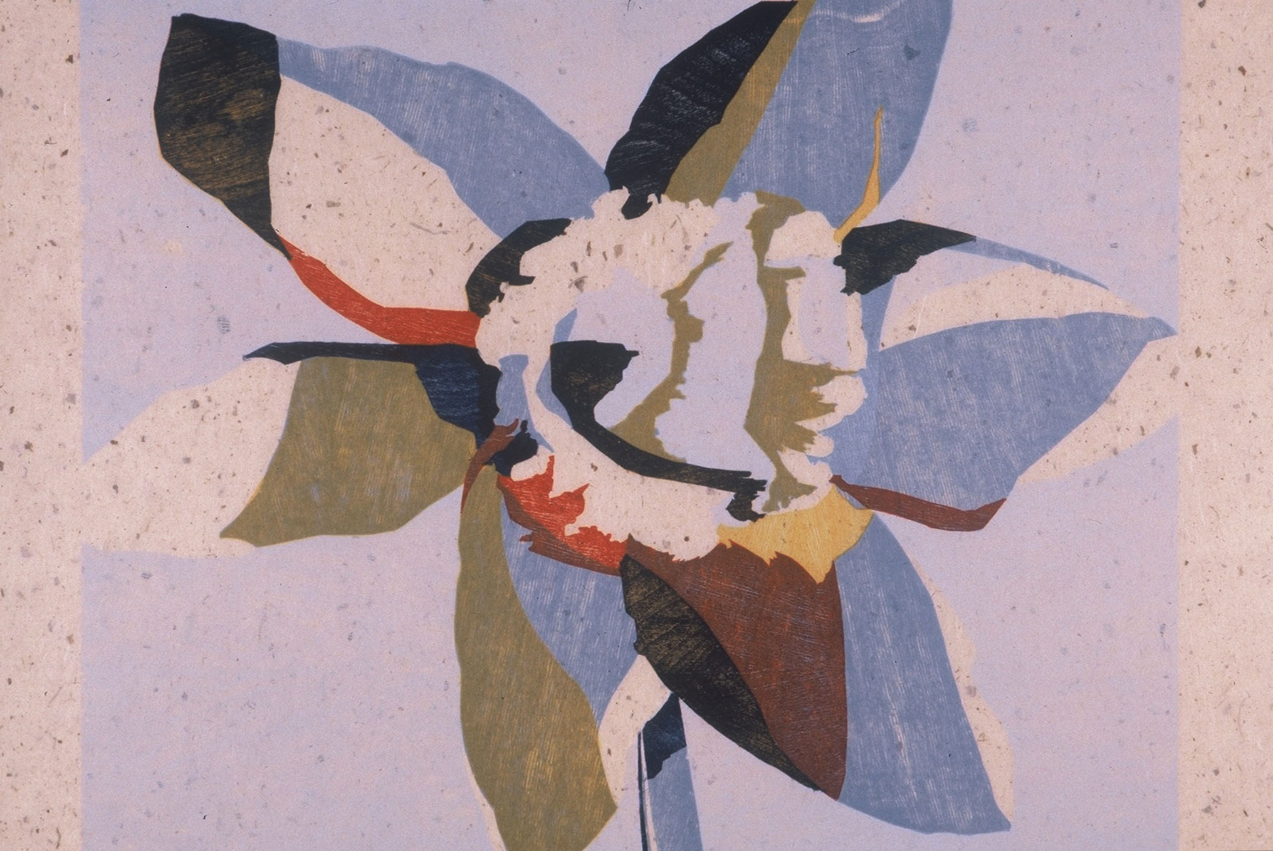 Ann Conner woodcut, flower, numbered print