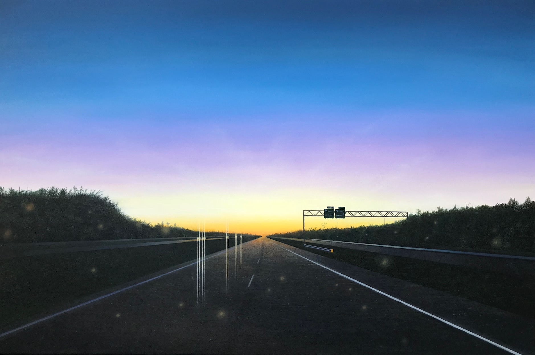 vanishing point, horizon line, highwayscape
