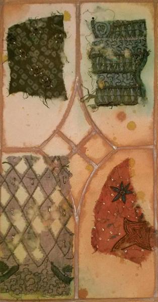 handmade paper, vintage Indian saris,