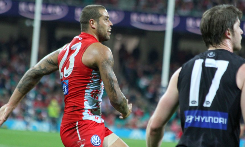 Lance Franklin continues to be the star up forward for Sydney, booting 7 goals