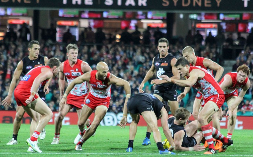 The Swans kept up constant pressure on the Carlton side for 4 quarters.
