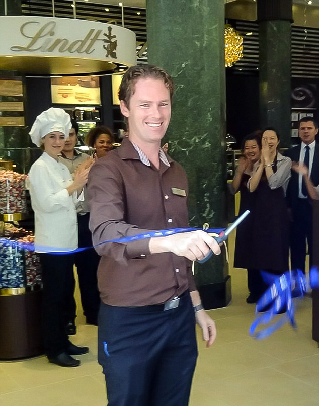 Lindt Cafe manager Tori Johnson at the job he loved Photo credit: Enterprise News & Photos
