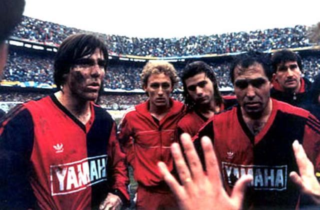 Eduado Berizzo, Juan Manuel Llop and Mauricio Pochettino receive instructions from Marcelo Bielsa.