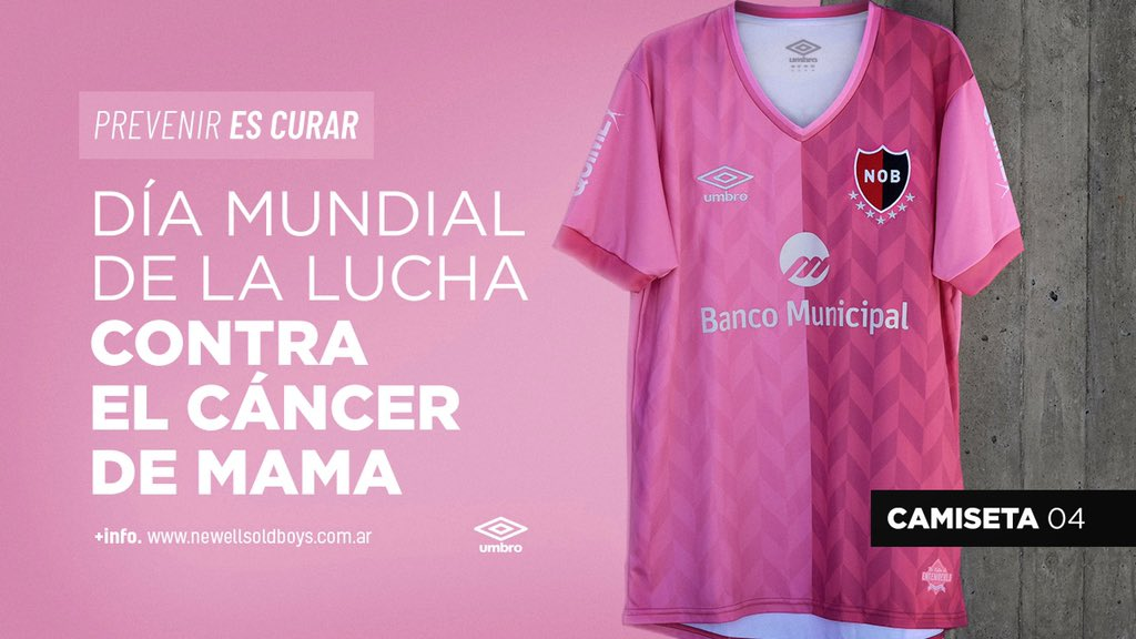Newell's Old Boys launch pink shirt for breast cancer awareness