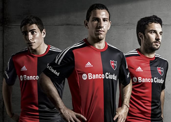 Newell's Players with Adidas Jersey