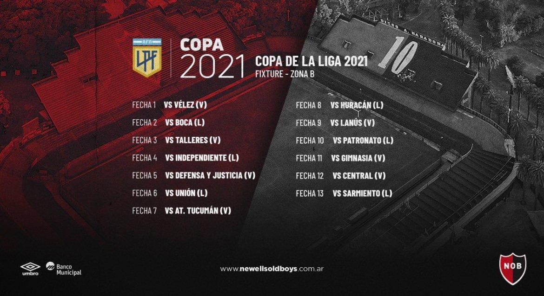 Fixtures confirmed: Newell's will play in Zone B of the Copa de la Liga