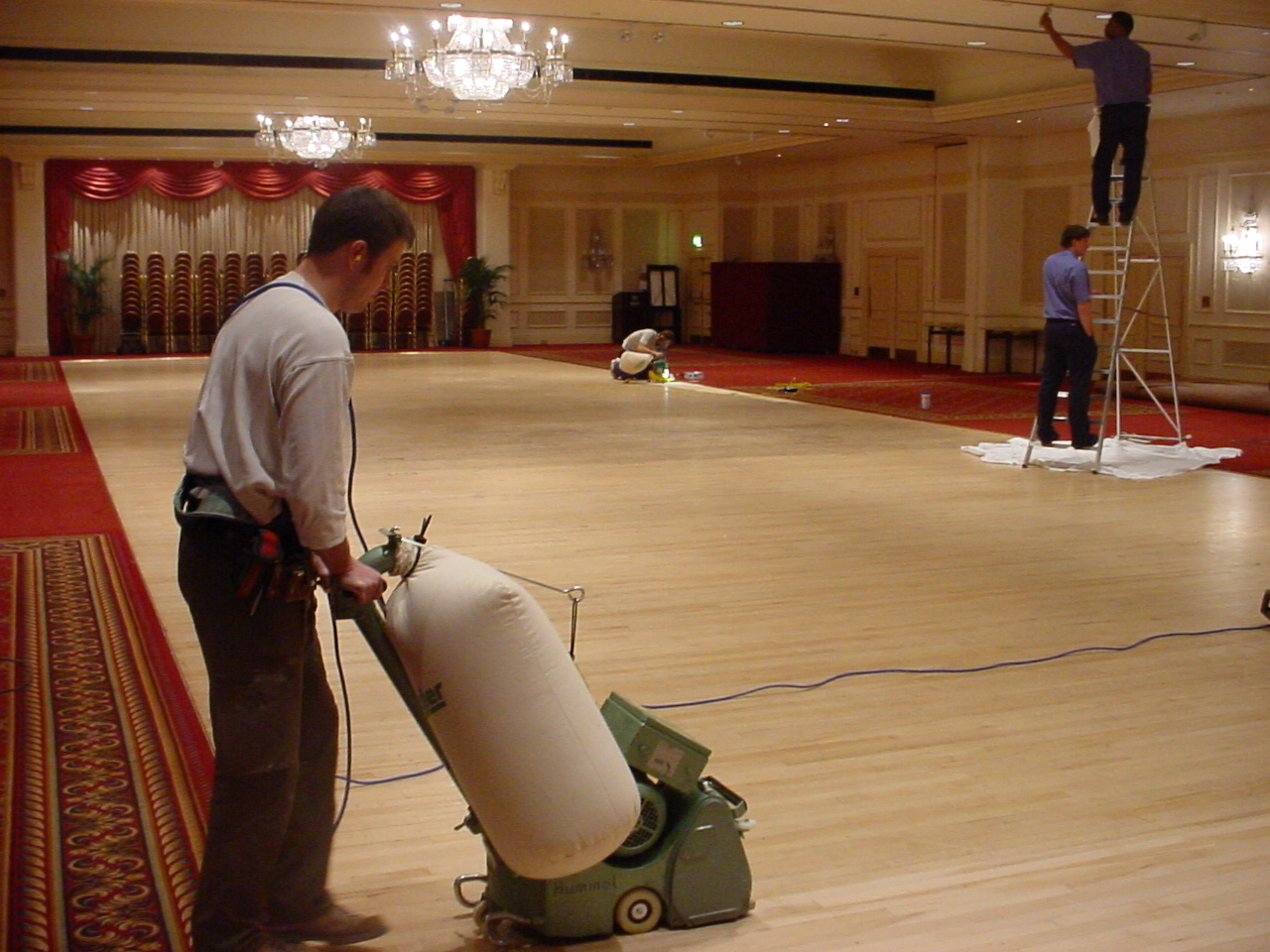 Grosvenor Square hotel floor sanding