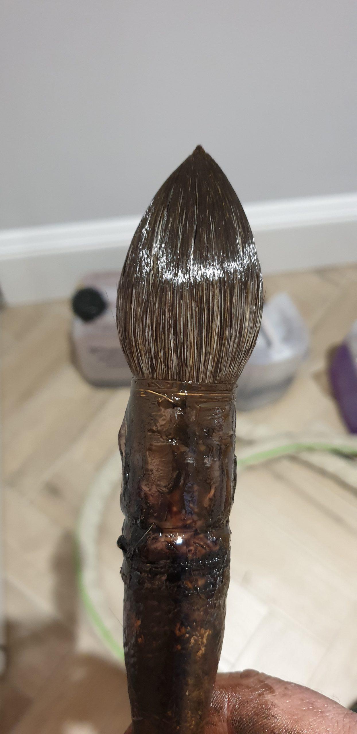 zorino soft hair wood finishing brush