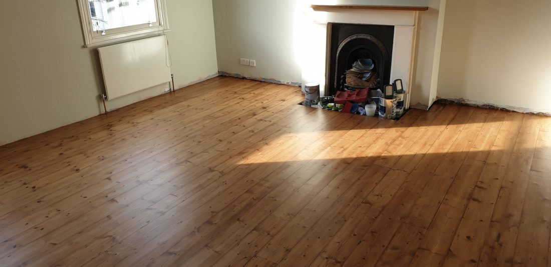 Beautifully stained Victorian pine floor