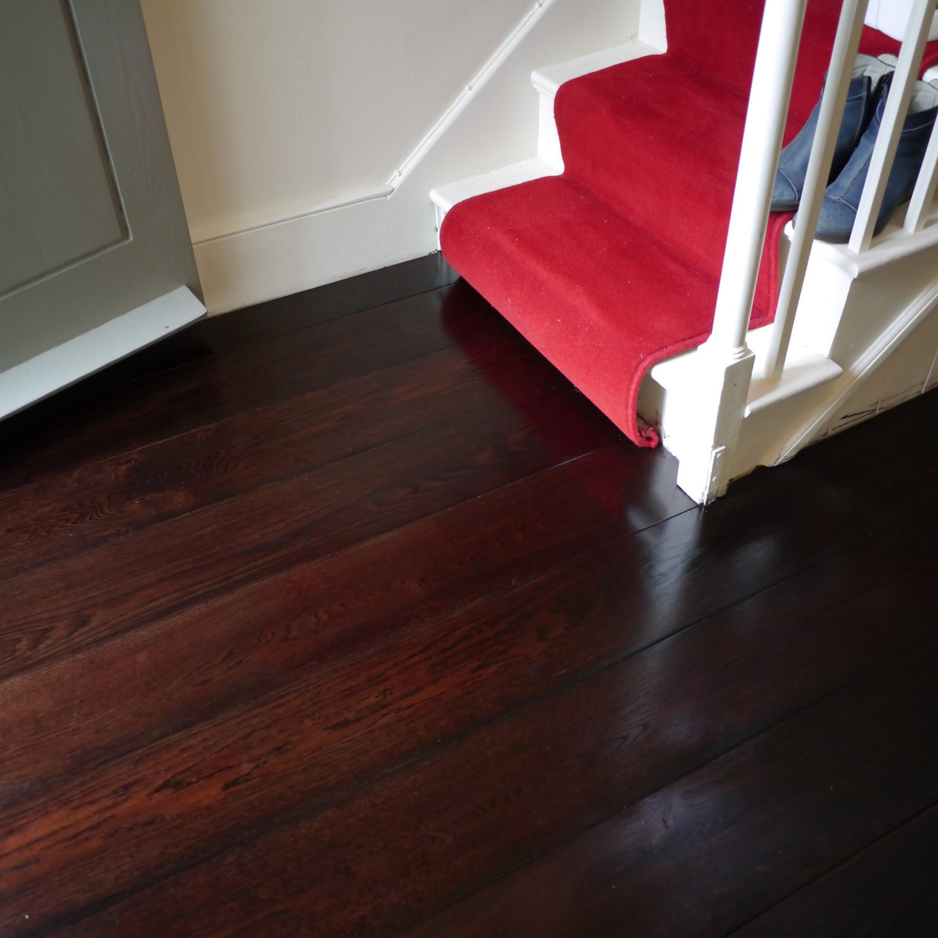 Dark oak stained engineered oak floor