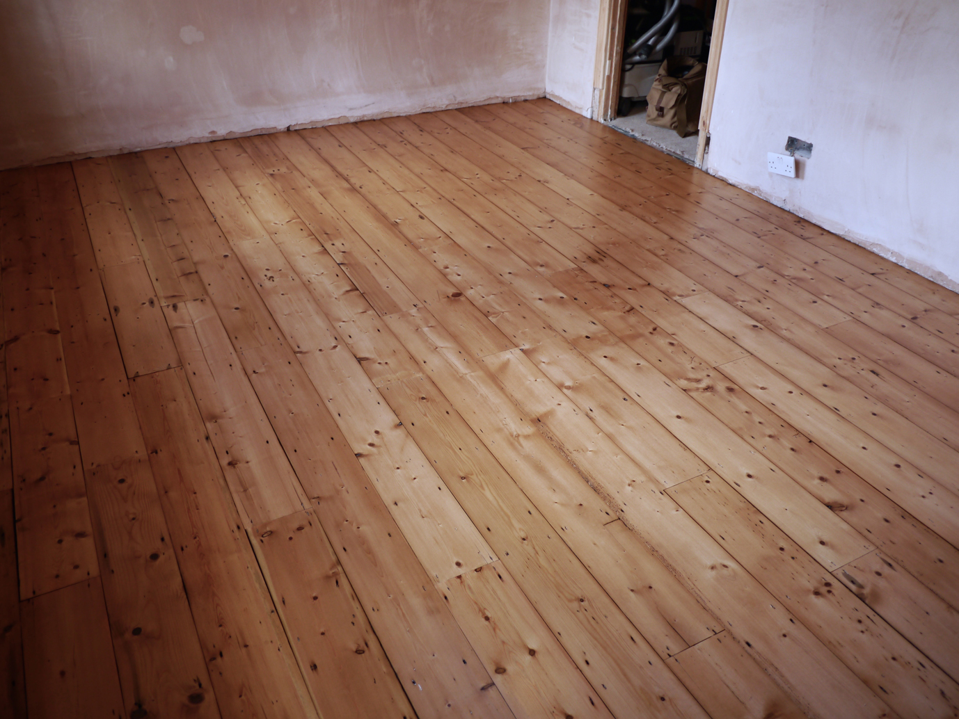 Amazing reclaimed Victorian pine floor fitted
