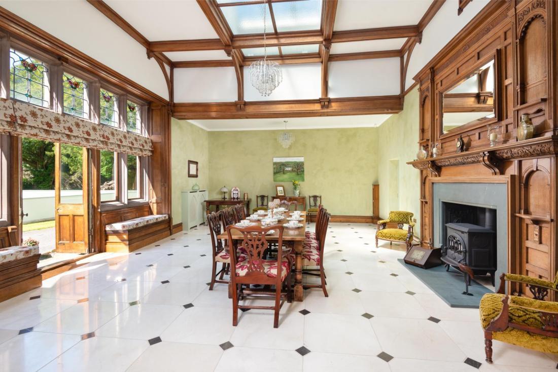 Lovely Mackintosh oak room French polished at Camerton Hall