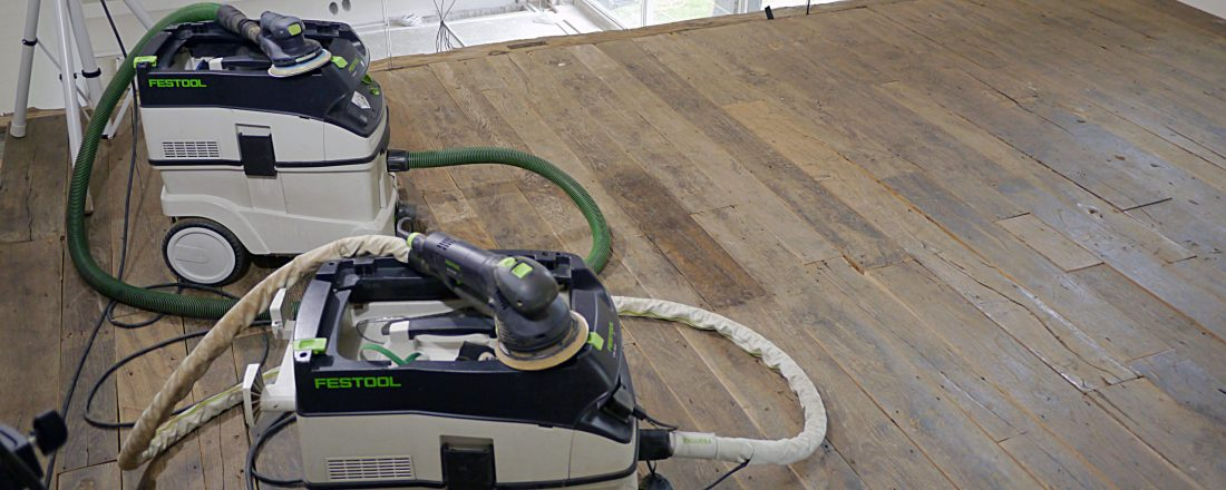 Festool CTL26 and CTL36 dust extractors with Festool ETS EC150 and Rotex RO150 professional finishing sanders