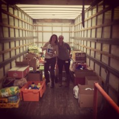 NECR transporting a truck filled with goodies to the Northeastern Animal Shelter in Salem, Ma.