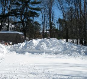 Snow bank by Coleman