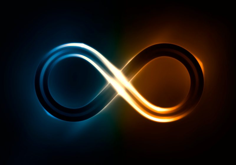 Sign of infinity using blue and yellow/orange 'lights'. This signifies active listening pattern learned at New England Hold Me Tight at an eft marriage intensive in Massachusetts.